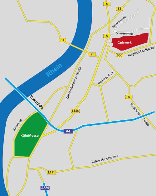 Entfernung Oberhausen Köln